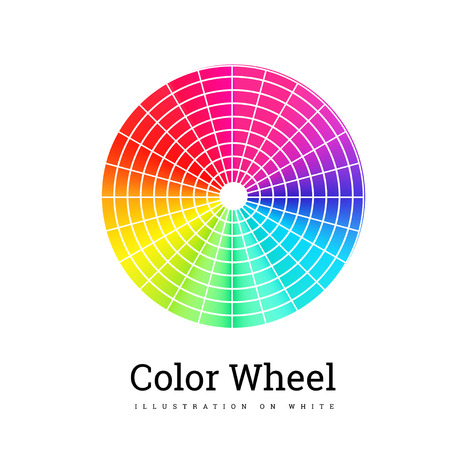 Color Wheel vector illustration on white background Illustration