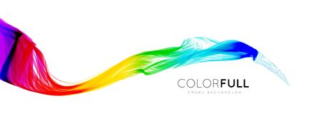rainbow: Colorful gradient wave of rainbow color on a white background. Vector illustration Illustration