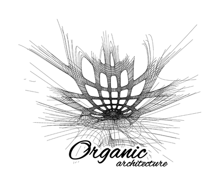 Organic architecture. The concept of unity with nature including smooth lines and transitions.