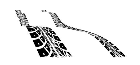 Tire tracks. Vector illustration on white background Illustration
