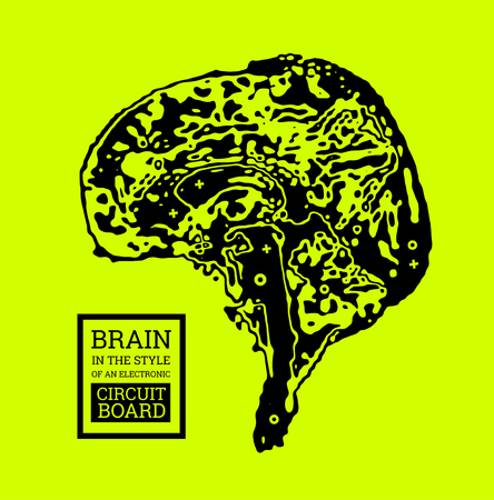 The brain in the form of a topographic map or an electronic printed circuit board