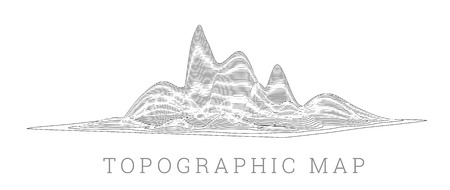 Topographical map of the locality, vector illustration