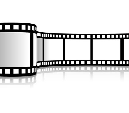 Ilustracja wektorowa taśmy filmowej Ilustracje wektorowe
