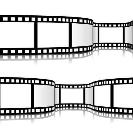 Illustrazione vettoriale di striscia di pellicola