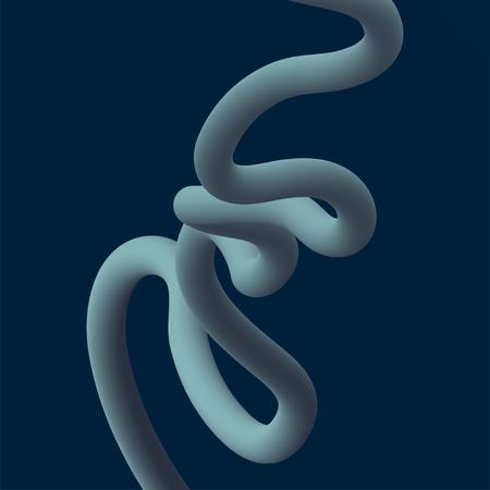 Abstract fluid line gradient flow design vector illustration.