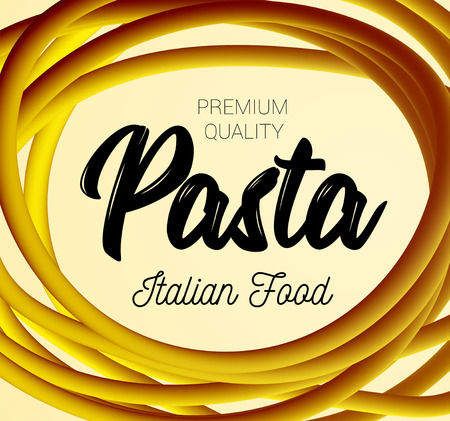 Pasta traditional dish of Italian cuisine vector illustration. Illustration
