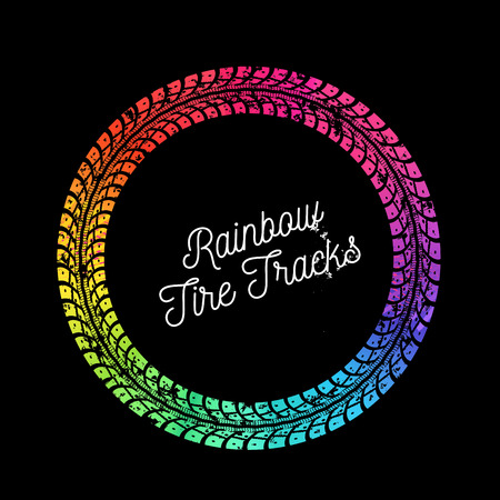 Colorful vector tire tracks