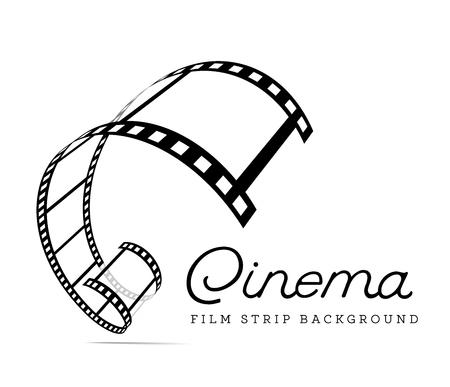 Film strip vector illustration on white background. Illustration