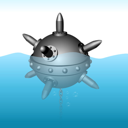 Naval mine vector illustration Иллюстрация