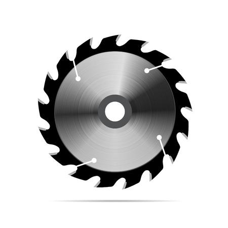 Circular saw blade on white background Illustration