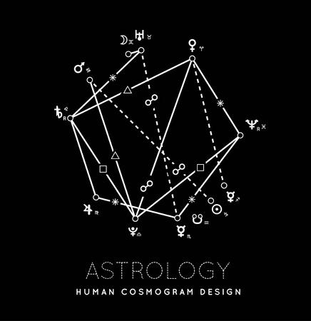 Astrology cosmogram vector background
