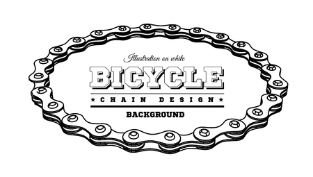 Bicycle chain in the form of a circle. 3D design