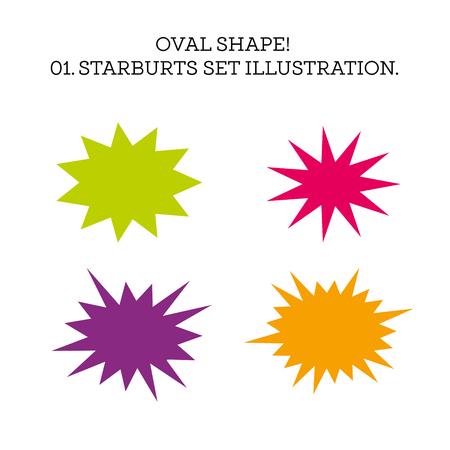 La bulle de dialogue Starburst a une forme ovale. Illustration vectorielle Vecteurs
