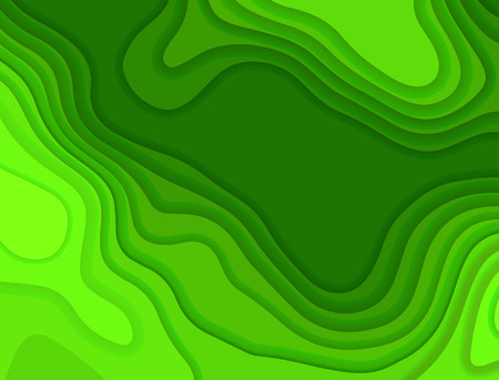 Paper cut. Vector background. Origami design illustration