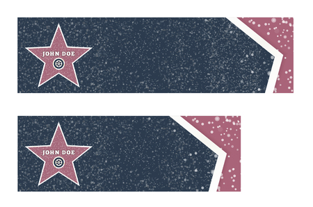 Actor s star on the background of marble tiles with copy space. Vector