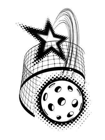Pickleball Star vector illustration isolated on white background