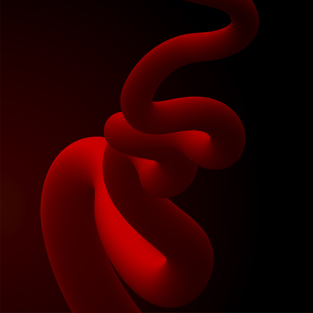 Abstract fluid line. Gradient flow design. Vector illustration