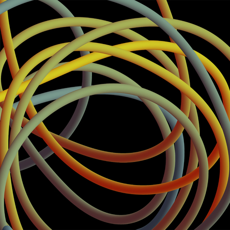 Electrical wires of different colors. Vector illustrtation