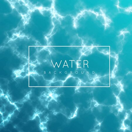 The water surface of the sea, river or ocean. Vector illustration of water, top view. 写真素材 - 129774132