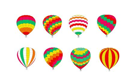 Set of multicolored balloons on a white background. Vector illustration on white