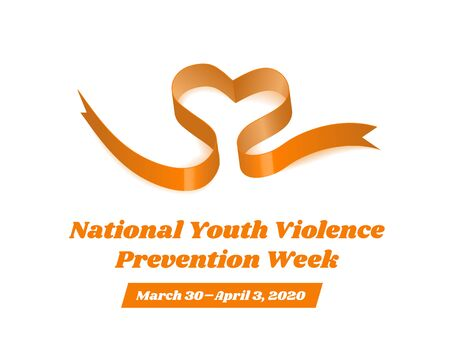 National Youth Violence Prevention Week. Vector illustration on white background