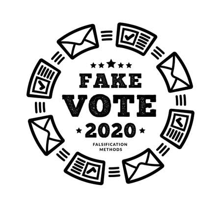Fake vote 2020. Methodology for possible election fraud. Mail and regular voting