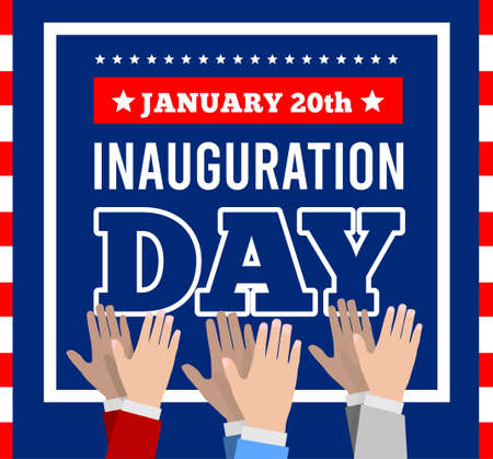 Inauguration of the President of the United States, January 20. Applause, celebration Vector illustration