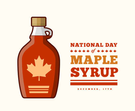 Maple Syrup Day December 17. Vector illustration on a light background