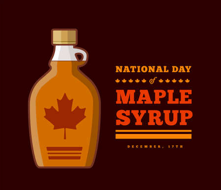 Maple Syrup Day December 17. Vector illustration on a dark background