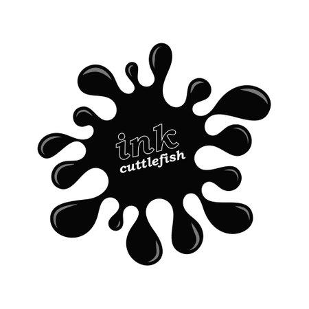 Black sea cuttlefish ink. Vector illustration isolated on white background 向量圖像