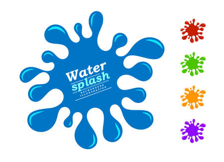 Water splash and color juice variation. Vector illustration on white background