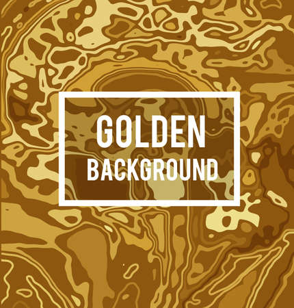 Golden vector background in marble ink style