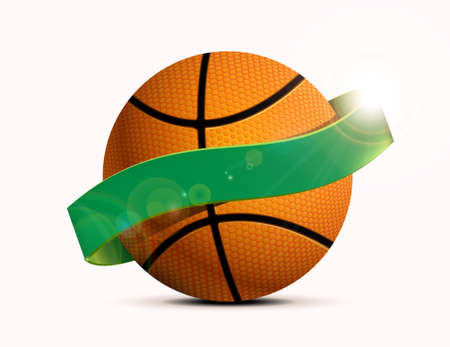 Basketball party with a basketball ball. illustration, can be used as flyer, poster, invitation
