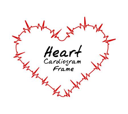Heart cardiogram pulse bpm. Vector illustration on white