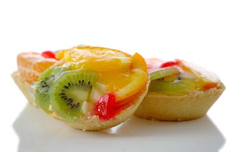 Several fruit pastry against the white background Stock Photo - 6566958