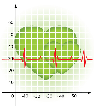 Illustration of the diagram of the heartbeat