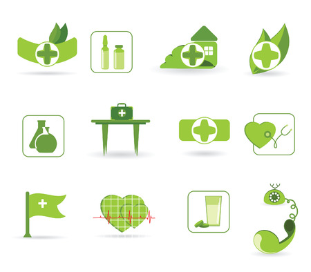 icons to subjects medicine and first aid Stock Vector - 7498532