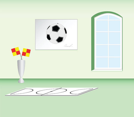 futbol infantil: Habitaci�n de los ni�os en el estilo de mi mejor juego - f�tbol