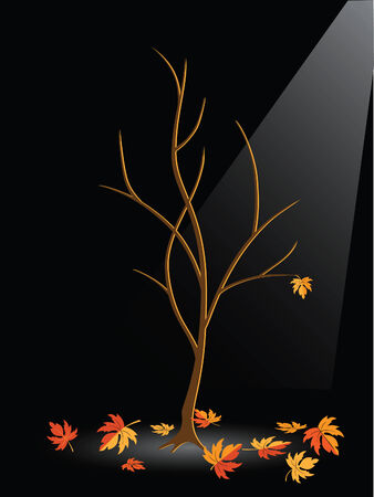 Autumn tree without leaves  Stock Vector - 7544204