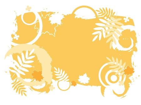 Abstract autumnal background with falling leaves Stock Vector - 7962411