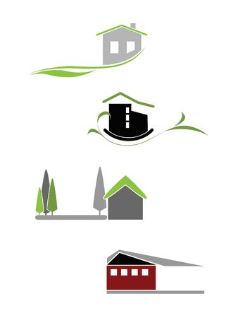 Illustration of the house icons for add it to the logotypes Stock Vector - 7962407