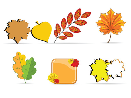 Illustration of autumnal icons against the white background Stock Vector - 7962417