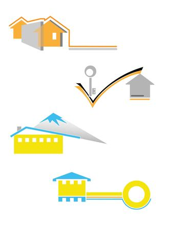 Illustration of the house icons for add it to the logotypes Stock Vector - 7962408