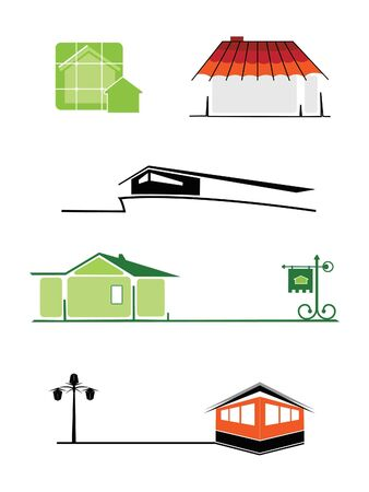 Illustration of the house icons for add it to the logotypes Stock Vector - 7962409