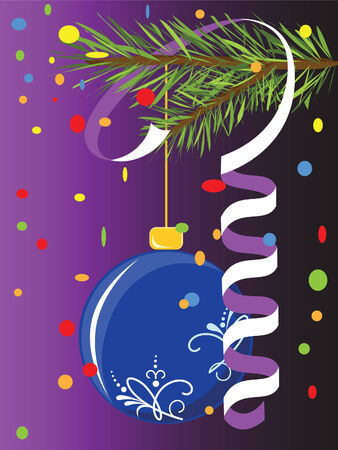 Christmas postcard with the holiday adornment  Stock Vector - 8391524