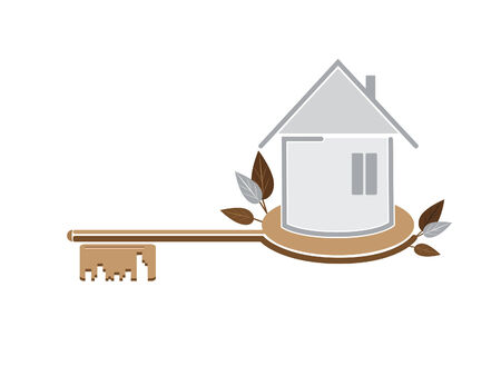 Simple illustration of house against the white background Stock Vector - 8391521