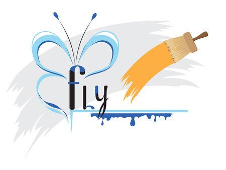 Flight of fancy in the paints Illustration