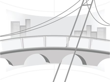 Abstract illustration of the bridge