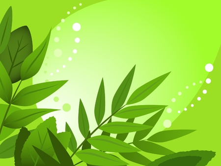 Abstract spring illustration against the green background
