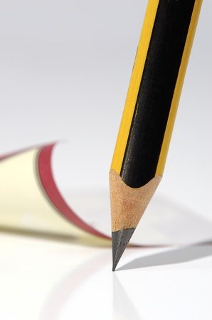 Simple pencil and note by the closeup